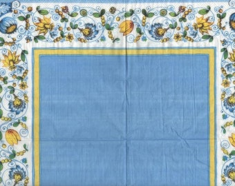 3290 lot 5 blue napkins with border