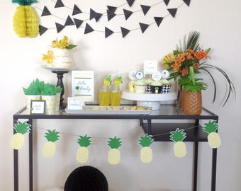Pineapple Birthday Party Printable Pineapple Banner by Fara Party Design |Summer Party | Party like a Pineapple | Garland