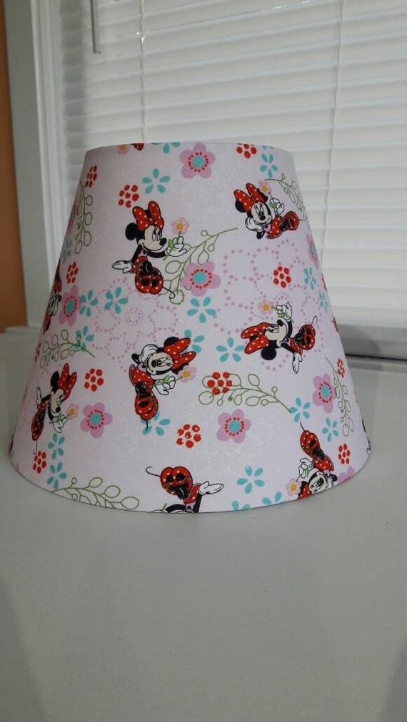 items similar to minnie mouse lamp shade disney mickey. Black Bedroom Furniture Sets. Home Design Ideas