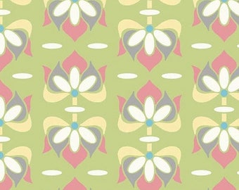 SALE 30% Off - Priscilla Floral Green c3362 - Lila Tueller - Riley Blake Designs Fabric - By the Yard