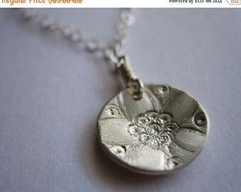 SALE Tiny Jasmine Sterling Silver Necklace