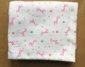3/4 yard Pink Giraffe Knit