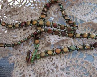 Wrap   - Hand sewn bead weaving