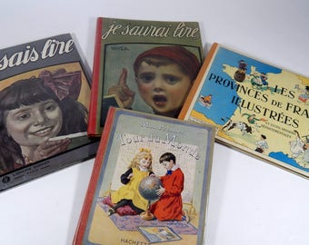 1920s French Children's Books  Group of 4