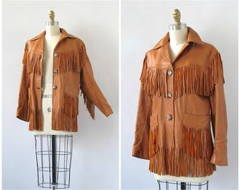 Vintage Late 50s Jacket | 1950's Tan Western Deerskin Leather Jacket |  Horn Buttons | Southwestern, Rockabilly, Americana | Size Medium
