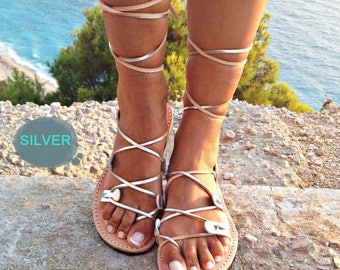 ON SALE Gladiator leather sandals women, leather sandal 100% genuine leather