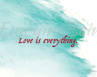 Love/Customizable Printable Inspiration Poster