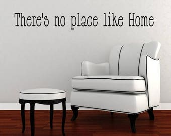 20% OFF There's no place like Home-Vinyl Lettering wall words graphics Home decor itswritteninvinyl