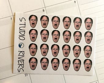 Dwight Schrute Mini Stickers/Planner Stikcers/The Office Inspired Stickers