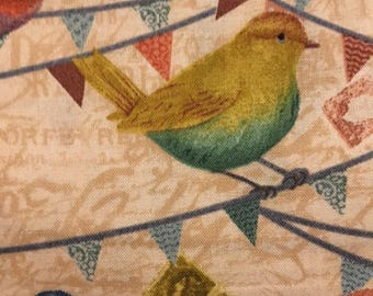 Birds on a Wire - Fabric - 3 yards