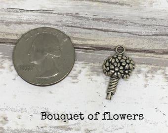 Bouquet charm necklace