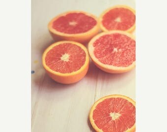 Art For Kitchen: Oranges and grapfruit Fine Art Food Photography Kitchen Art, fruit still life fruit print Kitchen wall art fruit Orange art
