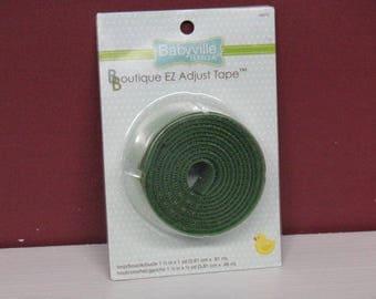 Babyville Boutique EZ Adjustable Tape Green