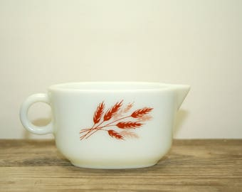 Pyrex Autumn Harvest Wheat Gravy Boat