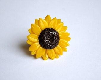 ON SALE Sunflower Ring