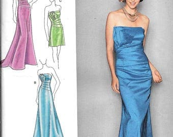 Simplicity 2252 Jessica McClintock Evening Formal Dress Sewing Pattern UNCUT Size 12, 14, 16, 18, 20
