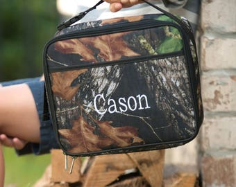 Monogrammed Woods Lunch Box