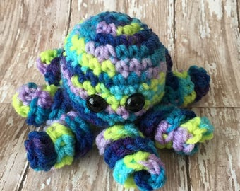 Handmade Crochet Amigurumi Stuffed Octopus