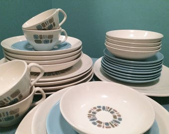 Temporama Canonsburg Atomic Plates Bowls Serving 31 Pieces! Everything you need for an Instant Collection!