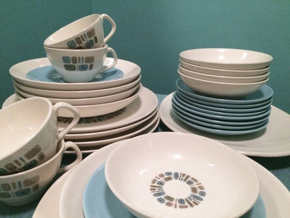 Like this item? & Temporama Canonsburg Atomic Plates Bowls Serving 31 Pieces