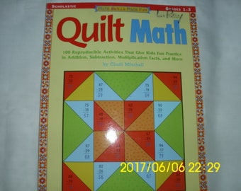 Quilt Math / Math Skills Made Fun / Quilt Pattern Book / Quilt Coloring Book / Scholastic Book / Quilt Math Problems / Cindi Mitchell