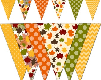 Thanksgiving Banner, Autumn Printable Banner, Thanksgiving Party Pennant Banner, Photography - Instant Download - DP452