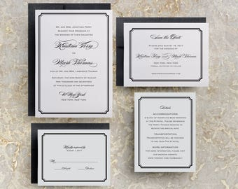 Simple Wedding Invitations, Simple Wedding Invitations Templates, Elegant Wedding Invitations, Modern Script Wedding Invitations