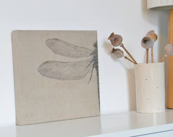 Dragonfly drawing on canvas