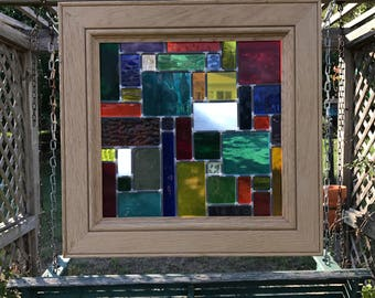 Stained Glass Leaded Panel