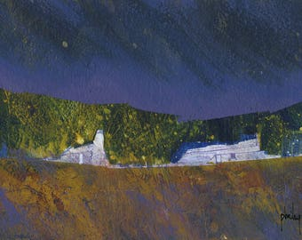 Original moorland cottage painting by Paul Bailey: Ghost cottages
