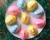 Easter chick Soap -  peep soap - vanilla cake scented - Easter Sunday - Easter Basket Soap