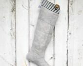 LOOP - reconstructed vintage grain sack christmas stocking