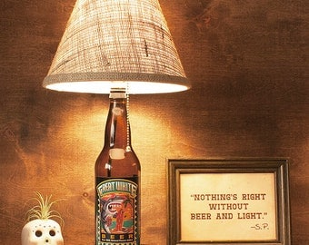 Craft Beer, Lamp, Bottle, Great White, Lost Coast Brewing, 22oz., Free US Shipping