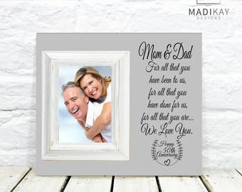 50th Anniversary Gift, 50th Wedding Anniversary Gift, For All That You Have Been To Us, Gifts for Parents, Parents Anniversary Gift Frame