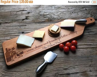 ON SALE Personalized Cheese Board, Bread Board, Charcuterie Board Personalized Gift, Wedding Gift, Anniversary Gift, Housewarming Gift