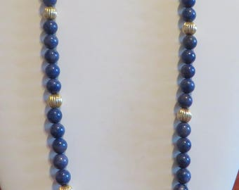 359 Cts 14k Gold Lapis Necklace Lapis Lazuli Jewelry Lapis Lazuli Necklace Lapis Bead Necklace Lapis Lazuli Bead Necklace Antique Necklace