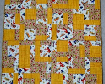 Baby/Youth/Kids size Trucks/Construction Quilt
