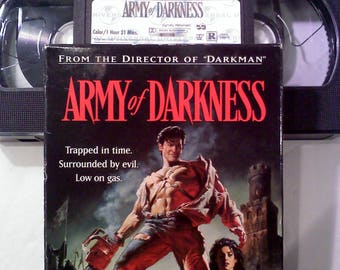 Army of Darkness VHS Cassette