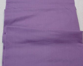 "Vintage Cotton Fabric Gorgeous Lilac/Purple 35"" Wide 3 Yards"