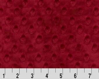 1.5 Yd Minky Dot Crimson (Shannon Fabrics)