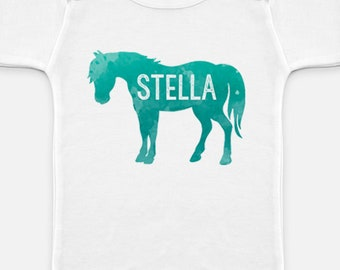 Custom Mountain Sky Horse Pony Onesie