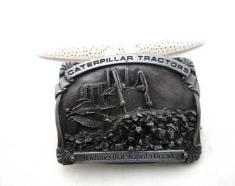 Caterpillar Tractor Belt Buckle. Elevated Sprocket Tractors. Limited Edition. Pewter. free shipping -FL
