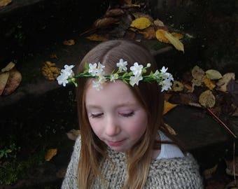 Child's artificial floral crown.