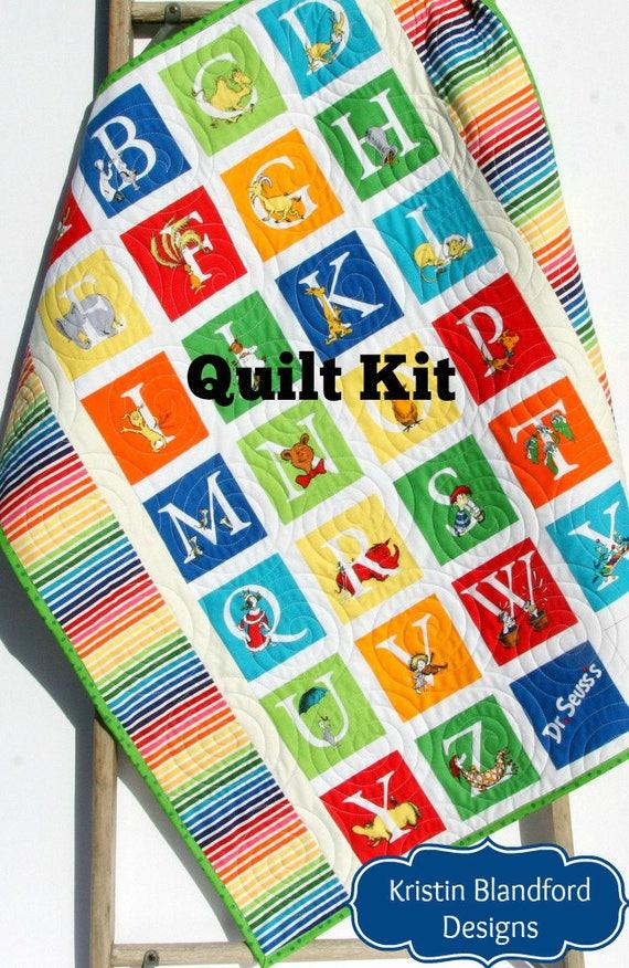 ABC Dr Seuss Quilt Kit Stripes Panel Dr Seuss Blanket Baby : dr suess quilt - Adamdwight.com