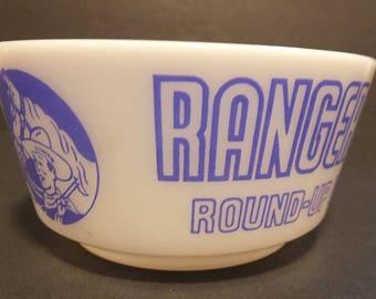 Ranger Joe Wheat or Rice Honnies Cereal Bowl 1950's Hazel Atlas