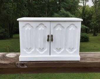 Jewelry Box White Wood Jewelry Box