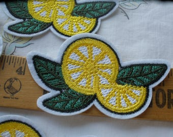 """Lovely Little Lemon patches Embroidered Applique Iron on 6 pieces embellish t-shirt jeans jacket shoes Craft Accent sew-on 3"""" x 2"""""""