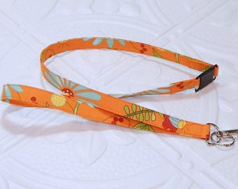 Lanyard Breakaway Fabric Lanyard Badge Holder Teacher Lanyard Keychain Lanyard