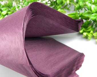 24 Eggplant Plum Purple Aubergine Tissue Paper Sheets | Solid Tissue Sheets | Gift Wrap Tissue | Retail Luxury Packaging | Crafting supplies