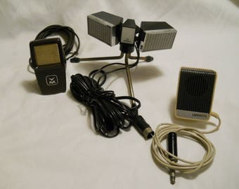 3 Vintage Microphones, Tested And Work, Phillips, Lafayette, Voice Of Music, USA & JAPAN Made